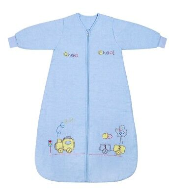 Children's Sleeping Bag Sack Long Sleeve 12-36 Months Choo Choo Train Sleepsack