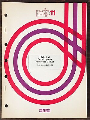 Digital DEC PDP-11 RSX-11M Error Logging Reference Manual 1977