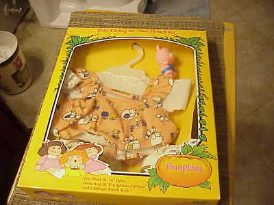 Pumpkins baby clothes (dress-shoes-teddybear) Vintage In box