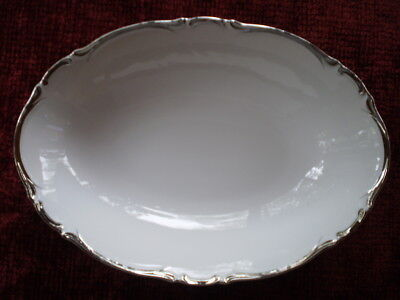 Harmony House Starlight Fine China OVAL VEGGIE DISH Platinum #3658  EXCELLENT