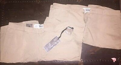 2 Pairs Converse One Star Flat Front Shorts Ash Brown Men's 40