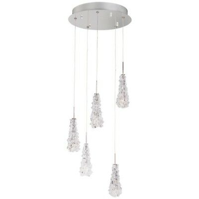 "Paris Prix - Lampe Suspension En Métal ""estabana"" 145cm Transparent"