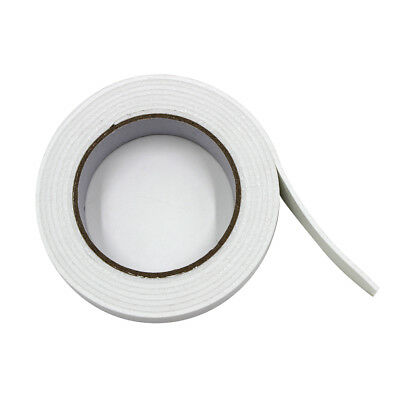 1×Double Sided White Foam Sticky Mounting Tape Roll Self Adhesive Strong Long 2M