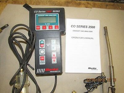 Blanke Series 2500 Exhaust Gas Analyzer, Excellent Condition!!
