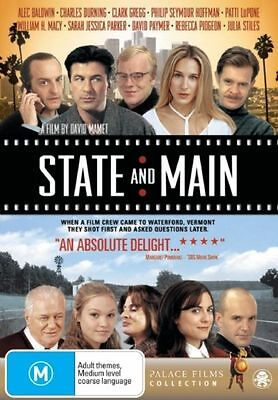 State And Main (DVD, 2008) // Ex-Rental // No Cover // Disc & Case only