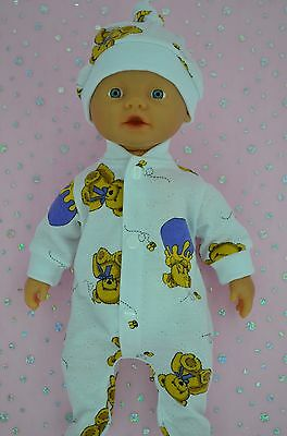 "Play n Wear Doll Clothes For 13"" Little Baby Born PATTERNED STRETCH AND GROW~HAT"