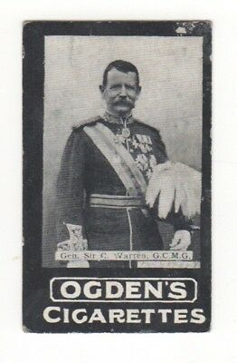 Ogden cigarette card: Liet-Sir Charles Warren - South Africa