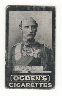 Ogden cigarette card: Major-General Sir Geo White - Ladysmith