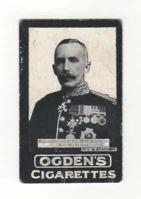 Ogden cigarette card: Major-General Sir WF Gatacre - Khartoum