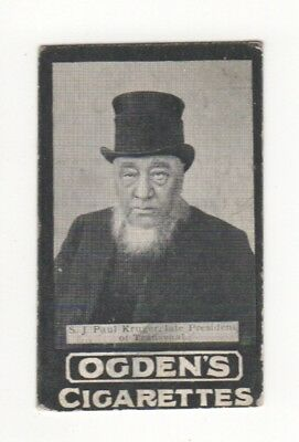 Ogden cigarette card: President of Transvaal Sir Paul Kruger