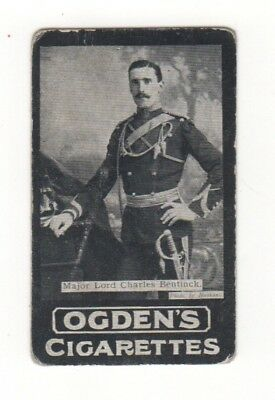 Ogden Military cigarette card: Lieut. Lord Charles Bentinck South Africa