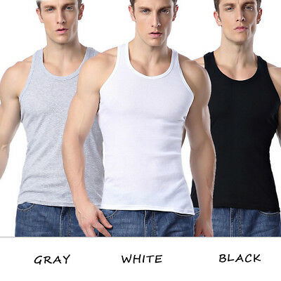 Mens Fitness Activewear Tops T-Shirt Sport Gym Bodybuilding Muscle Tee Vests