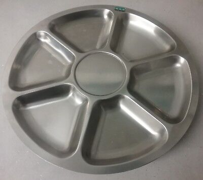 Mid Century Danish Stainless Steel Lazy Susan By Lundtofte