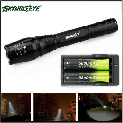 Zoomable 12000LM Lumens LED Flashlight Hand Torch XML T6 Hiking Camping Light