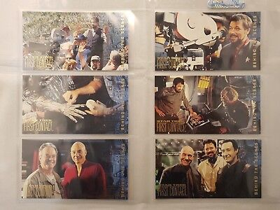 STAR TREK FIRST CONTACT BEHIND THE SCENES SET BS1 to BS10 ODDS 1:6