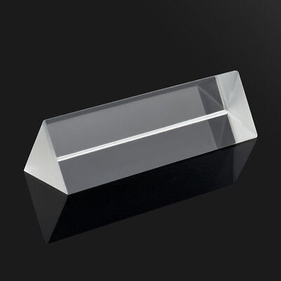 1pc 9cm Optical Glass Triple Triangular Prism Physics Teaching Light Spectrum