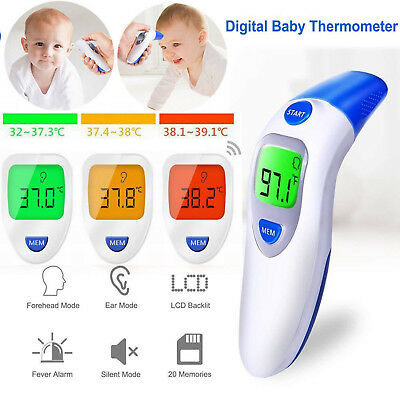 Baby Kids Ear/Forehead/Oral LCD Digital Thermometer Body Temperature Tester IR