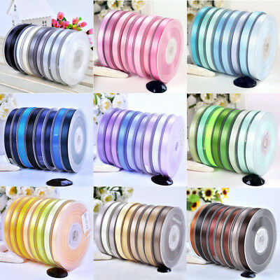 10 Metres, Double Sided Satin Ribbon (Full Rolls) 6/10/15/25/38/75mm Widths