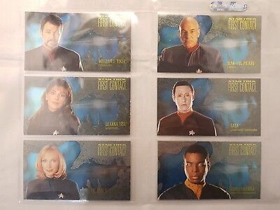 STAR TREK FIRST CONTACT CHARACTER SPECTRA ETCH SET C1 to C10 ODDS 1:12