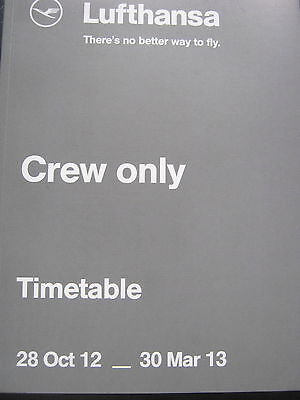 Lufthansa LH Flugplan Timetable Crew only Winter 2012  wie neu.