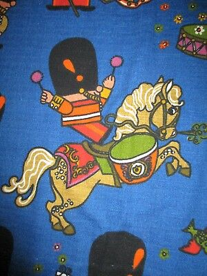Vintage Pop Parade fabric by Frieda Clowes for  Moygashel of toy soldiers.