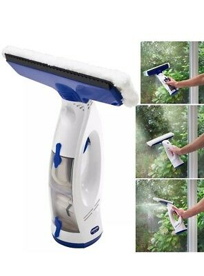 ADDIS Window VAC Cordless Vacuum Microfibre Head Rechargeable Glass Cleaner