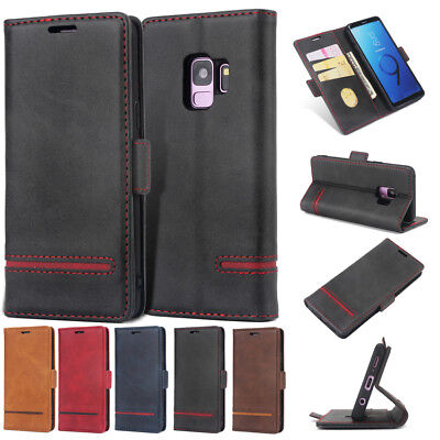 Magnetic Flip Wallet Case Leather Cover Stand for Samsung Galaxy S8 S9+ Note 8/9