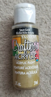 DecoArt Crafters Acrylic Paint 2oz 59ml Spun Gold DCA96