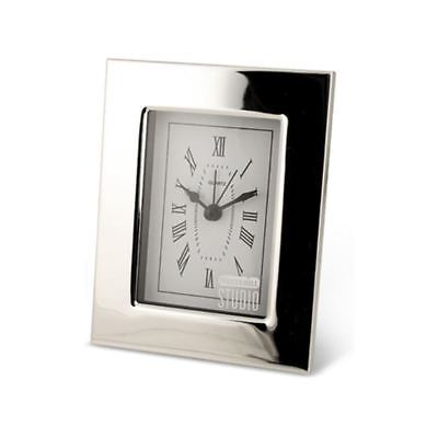Whitehill - Studio Alarm Clock Silver Plated Plain 9.5x12cm