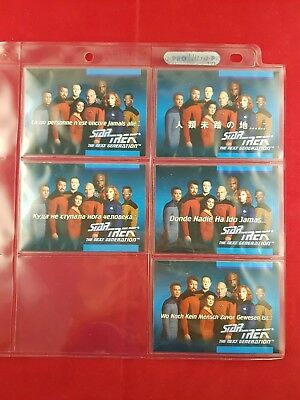 Star Trek The Next Generation Inaugural Edt Foreign Language Set 01A to 01E 1:5