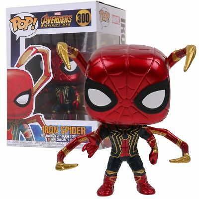 Pop Marvel Iron Spider Exclusive Spiderman Avengers PVC Action Figure Toys Gift