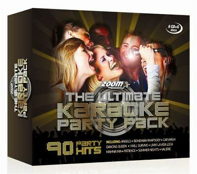 Zoom The Ultimate Karaoke Party Pack 6 x CD+G Box Set 90 Hits New Sealed