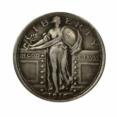1916 United-States Standing-Liberty-Quarter  FREE SHIPPING