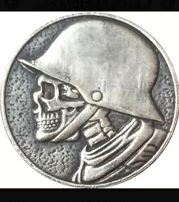 Hobo Nickel 1937  Skull Warrior game