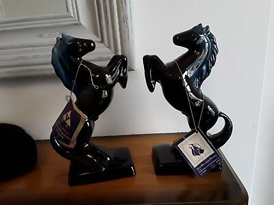 Canadian Blue Mountain Pottery - Pair Of Rearing Horses