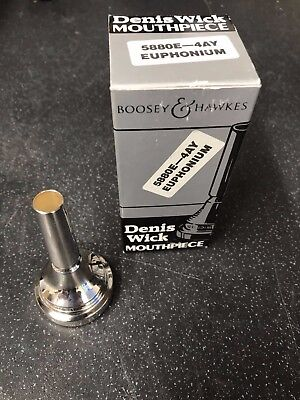 Denis Wick 4AY Euphonium Mouthpiece-New,Unused Silver Plated-