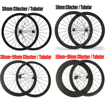 Novatec 700C Carbon Road bike wheelset 38 50 88mm Clincher Tubular for shimano