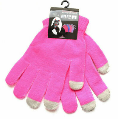 Winter yellow Anti-slip Touch Screen Gloves Full Finger Warm Mittens