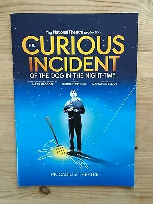 The Curious Incident of the Dog in the Night-Time Piccadilly Theatre Programme