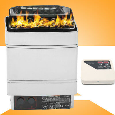 6KW Sauna Spa Heater Stove Wet Dry Stainless Steel External Digital Control 220V