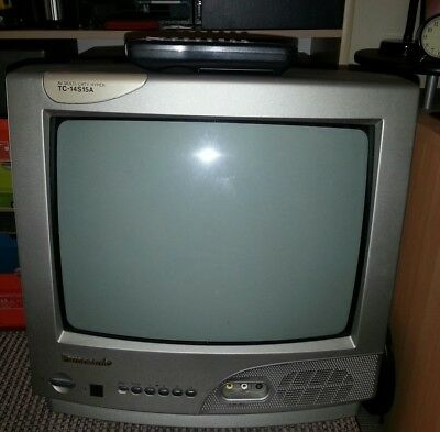 """Panasonic TC-14S15A 14"""" CRT TV Television Retro for gaming vintage"""