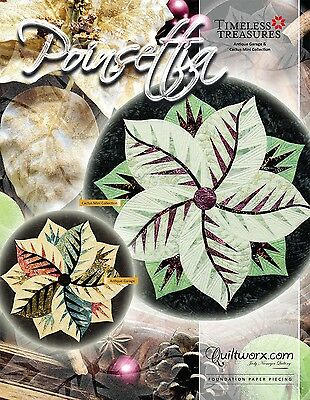 Poinsettia Foundation Paper Pieced Table Topper by Judy Niemeyer