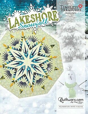 Lakeshore Snowfall Octagon Tree Skirt by Judy Niemeyer for Quiltworx