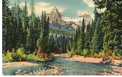 Pilot, Index Peaks From Clark's Fork, Cooke City Rd to Yellowstone Postcard