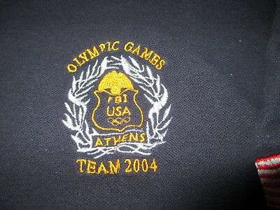 FBI Federal Bureau of Investigation 2004 Olympic Games Athens Police Shirt Large