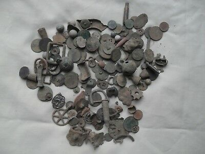 Assorted Uncleaned Metal Detecting Finds