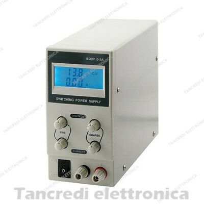 Alimentatore da Laboratorio DC Regolabile Stabilizzato 30V 3A Bench Power Supply