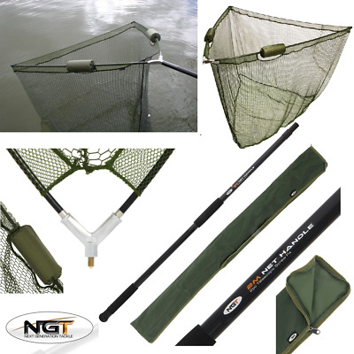 "Ngt 36"" 42"" 50"" Dual Float Nets Carp Fishing Landing Net, 2M Handle, Stink Bag"
