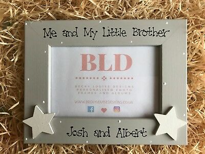 Personalised Me and My Little Brother Picture Photo Frame Keepsake Gift 6x4