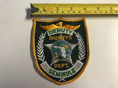 Deputy Sheriff's Dept Seminole FL Police Dept Embroidered Patch EMS PD